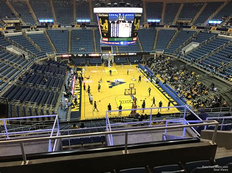 section 202 a 11 wvu coliseum section 202 rateyourseats com