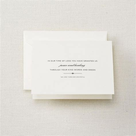 Funeral Acknowledgement Cards Template by Crane Stationery Engraved Sympathy Acknowledgement