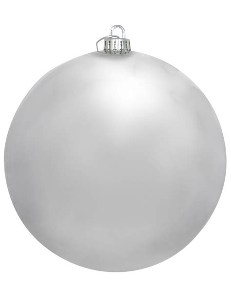 large shiny silver bauble decoration 20cm large decor