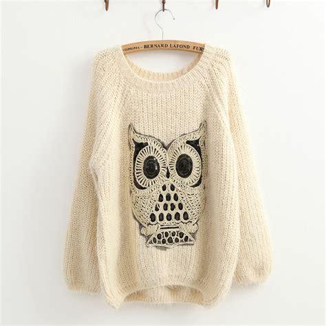 Owel Sweter owl sweater sweater grey