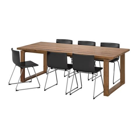 Space Saving Dining Table m 214 rbyl 197 nga bernhard table and 6 chairs ikea
