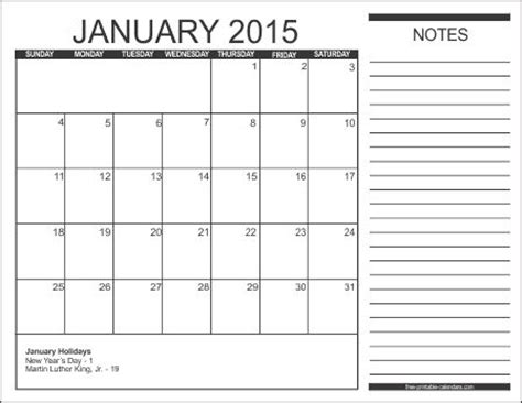 calendar template with notes monthly calendar with note section using this for