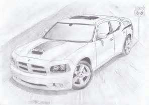 Dodge Charger Drawing How To Draw Dodge Charger