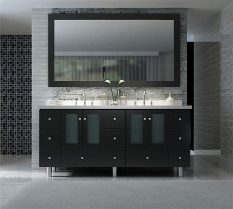 73 Inch Bathroom Countertop by Americano 73 Inch Sink Bathroom Vanity Set In Black