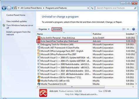 uninstall ask toolbar windows 7 how to remove the ask com toolbar from your browser