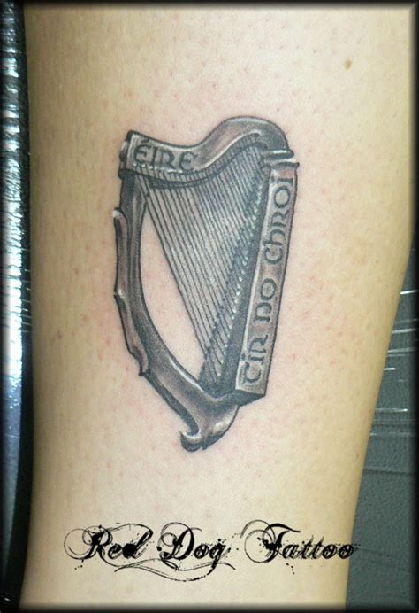 irish harp by reddogtattoo on deviantart