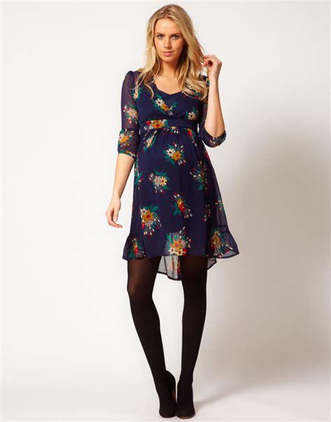 17725 Soft Chiffon Top Soft Printed Flower M lyst asos chiffon tea dress in floral print
