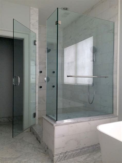 corner glass shower doors frameless corner shower enclosures