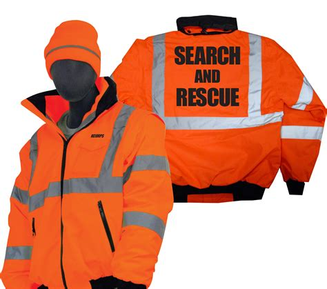Hi Search Sarwear Search And Rescue Waterproof Hi Vis Winter Bomber Jackets Tom S
