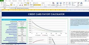 credit card excel template credit card payoff calculator excel template excel tmp