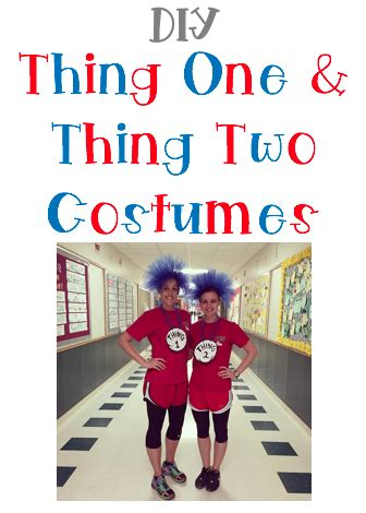 cool beans ed: diy thing one & thing two costumes