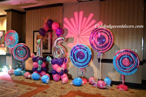 sweet 16 theme decorations event decor banquet llc