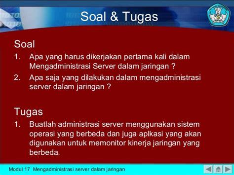 Modul Mengadministrasikan Server Dalam Jaringan Smj pelajaran dasar