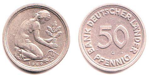 50 pfennig bank deutscher länder 1949 j 50 pfennig 1949 g brd 50 pfennig bank deutscher l 228 nder bfr