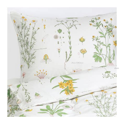 Duvet Ikea ikea strandkrypa duvet cover pillowcase set botanical