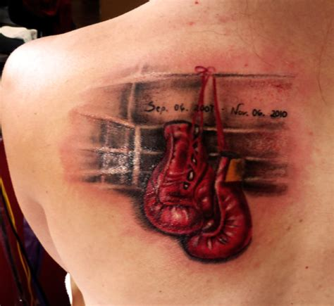 boxing tattoo boxing gloves color this has a
