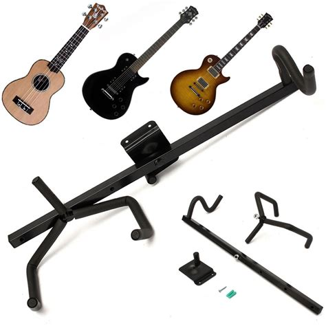 Wall Stand Guitar Gantung Hanger Gitar Bass Ukulele Acoustic Electric 60cm iron electric guitar wall hanger horizontal