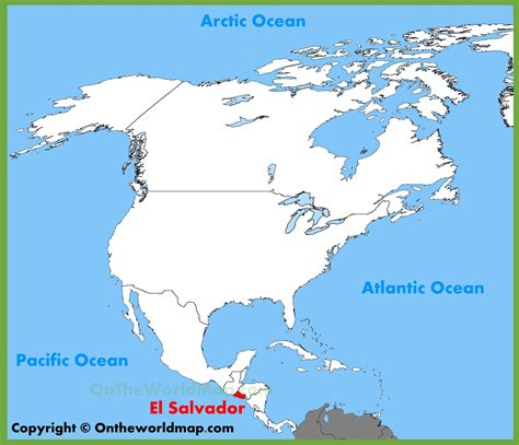 el salvador on world map el salvador location on the america map