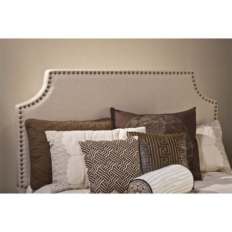 ivory headboard dekland headboard with rails in ivory linen 1121hxr