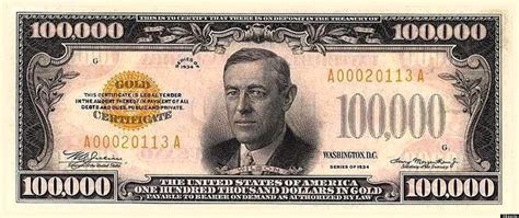 all us currency bills 100 000 bill the stories behind the biggest coins and