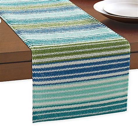 table runners bed bath and beyond ombre stripe outdoor indoor table runner bed bath beyond