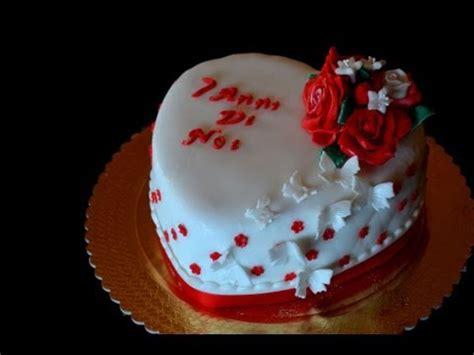 How To Decorate A Cake At Home by Torta Per Anniversario Decorata Passo Passo Youtube