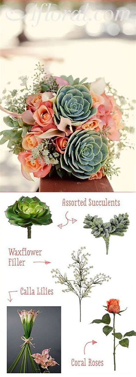 Cheap Silk Wedding Flowers by Fill You Bohemian Wedding With Faux Succulents And Cheap