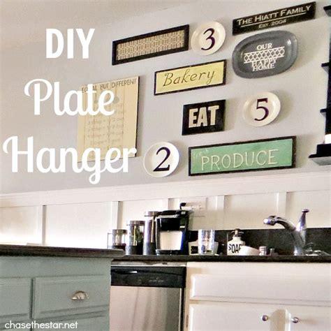 kitchen wall decor ideas diy diy plate hanger