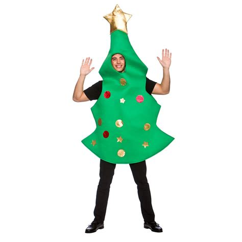 adults christmas tree fancy dress costume