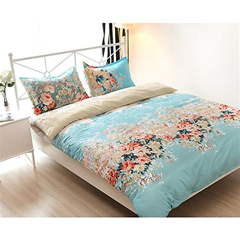 flower design quilt set vaulia lightweight duvet cover sets vintage floral
