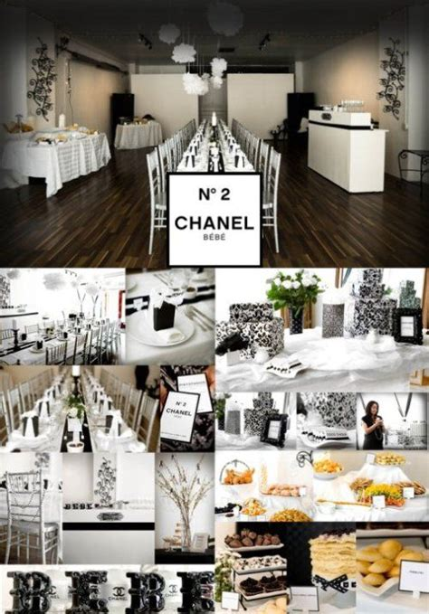 chanel inspired baby shower party ideas chanel