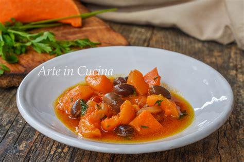 cucinare la zucca come contorno zucca con olive in padella ricetta contorno facile