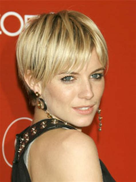 Photos Sienna Miller Haircut Sienna Miller Bangs | sienna miller pixie haircut