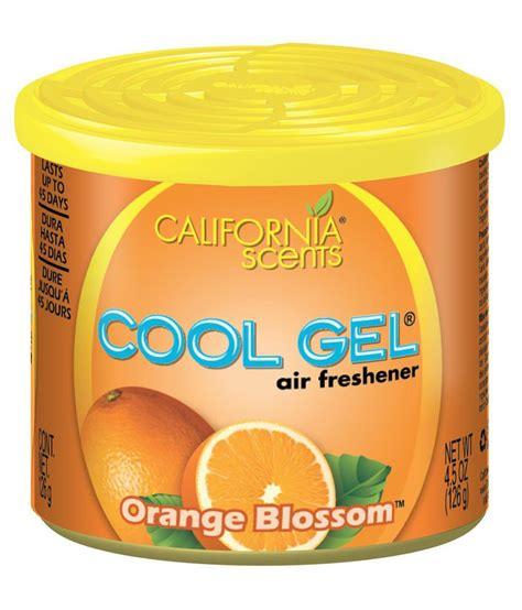 Car Scents Orange Squeeze Orange Blossom california cool gel orange blossom air freshener for car