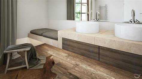 sitzbank für bad design badezimmer holzboden