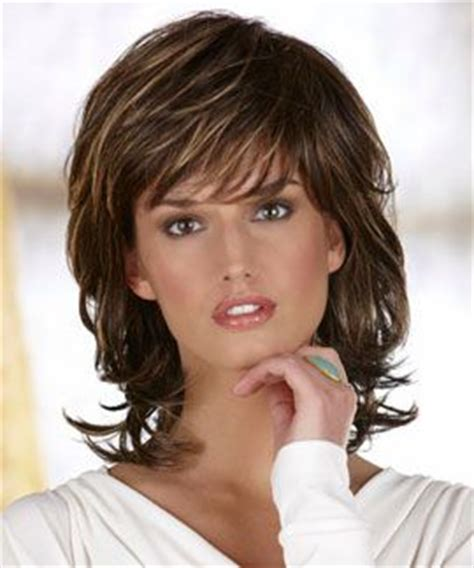 above shoulder shag layered bob with bangs shoulder length shag danielle by henry margu medium