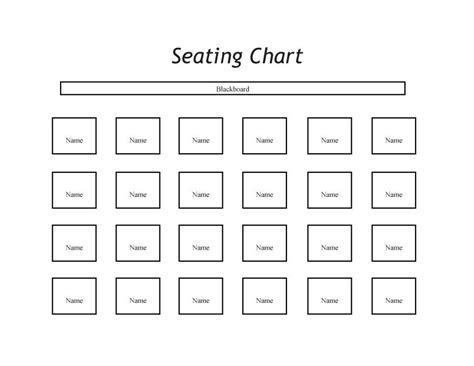 seating chart templates printable classroom seating chart