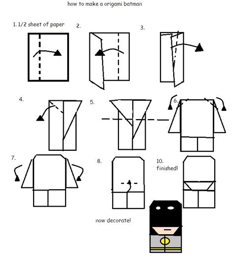 How To Make An Origami Person - how to fold origami paperman by arty12300 on deviantart