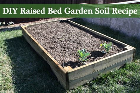 raised bed gardening soil diy raised bed garden soil recipe