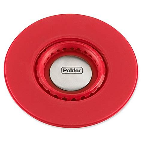 buy plastic kitchen sinks from bed bath beyond buy polder 174 pop up silicone sink strainer stopper in red