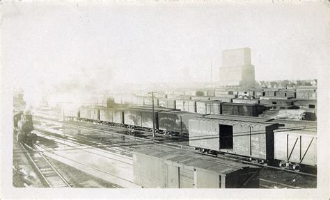 backyard auto winnipeg postcard 1264 railroad yards after 1900