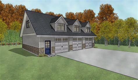 triple car  car garage architectural plans blueprints