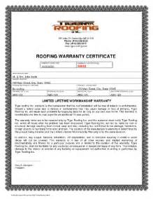 roof certification template how to write a roofing warranty fill printable
