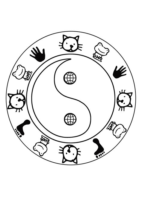 yin yang coloring book pages free coloring pages of yin yang