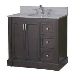 Lowes Bathroom Vanity Roth Allen Roth 37 In Espresso Kingsway Traditional Bath