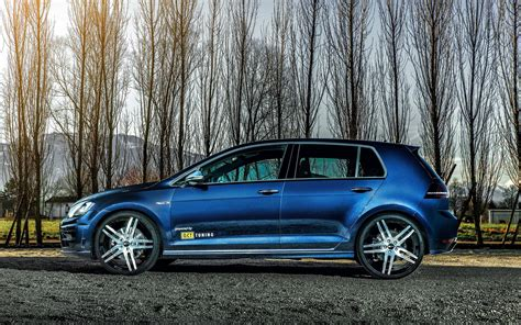 volkswagen golf blue 2016 volkswagen golf 7 r wallpapers tuning blue