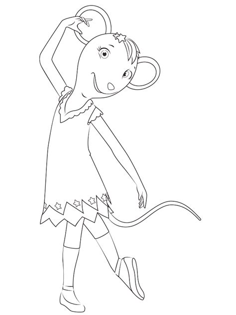 coloring pages angelina ballerina angelina ballerina coloring pages coloringpagesabc com