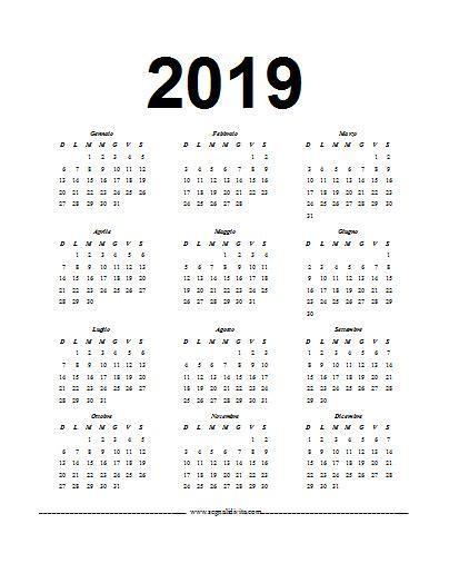 Calendario Word 2007 Calendario In Formato Word 2019