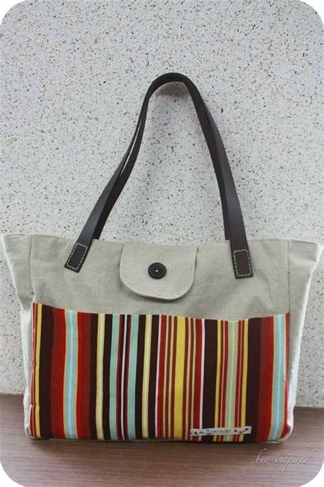tote bag straps pattern tote bag with leather straps free sewing tutorial tote bag