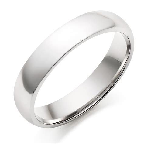 Plain Wedding Rings For by S 18ct White Gold Plain Wedding Ring 0005044